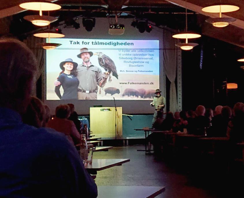 Foredrag med Falkemanden vinderen af Alene i Vildmarken 2019